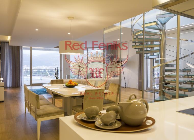 Панорамный пентхаус на первой линии в Будве, купить квартиру в Будва