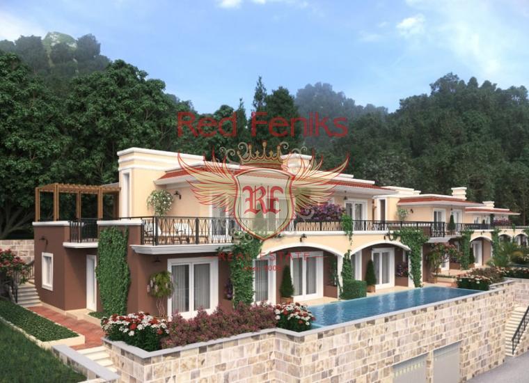 Новый проект: виллы и таунхаусы в Ораховце, Дом в Которский залив Черногория