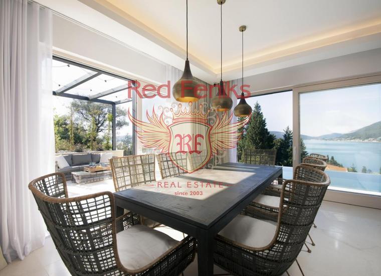 Роскошная меблированная вилла с бассейном и видом на море в Тивате, купить дом в Регион Тиват