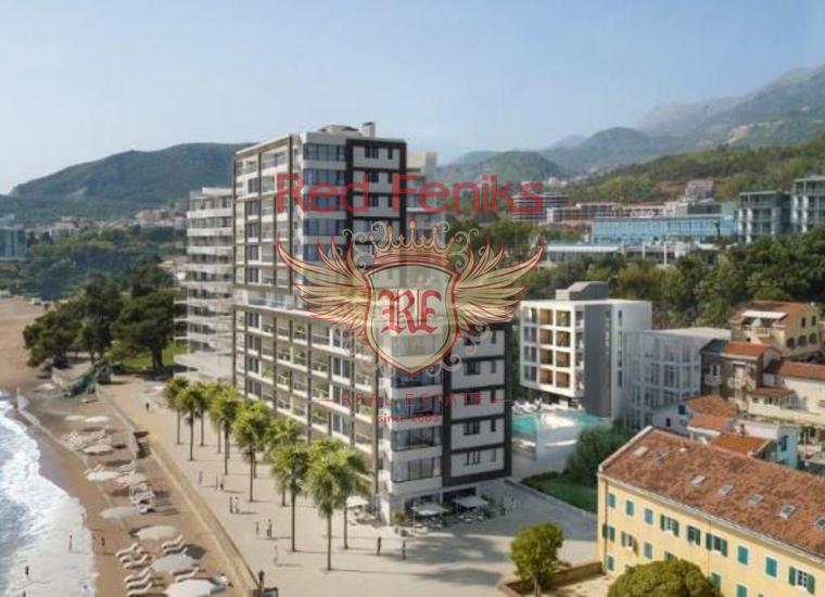 Новый Жилой Комплекс на Первой Линии, купить квартиру в Регион Будва