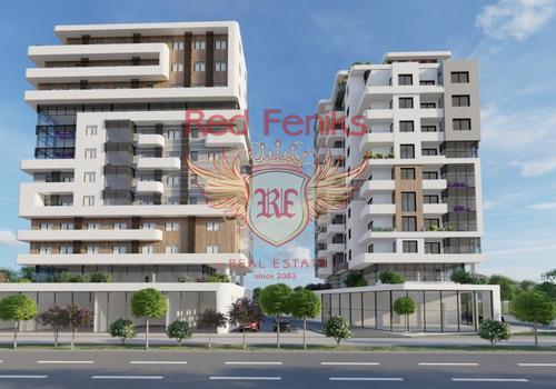 Новый жилой комплекс в Баре, состоящий из двух зданий.