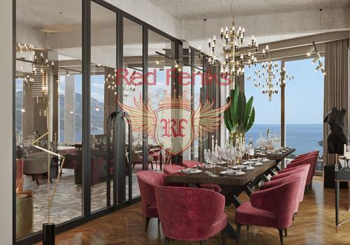 Панорамный ресторан площадью 300м2 находится в жилом комплексе в Бечичах.